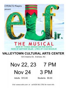 Elf, Jr., the play @Valleytown Cultural Arts @ Valleytown Cultural Arts Center