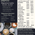 Coffee Depot Menu