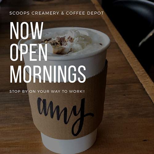 Now Open Mornings!