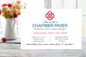CHAMBER MIXER-Sponsored by Nola Cooper Designs @ Chamber of Commerce Office | Andrews | North Carolina | United States