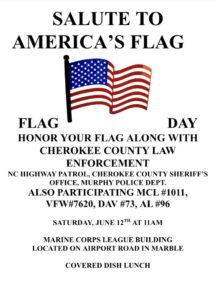 Salute to America's Flag @ Marine Corp League Building @ Marine Corp League Building