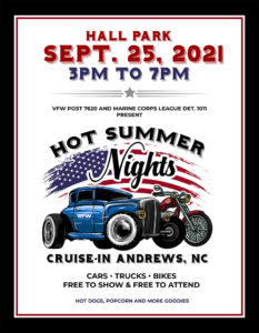 Hot Summer Nights Cruise-In @ Hall Park | Andrews | North Carolina | United States